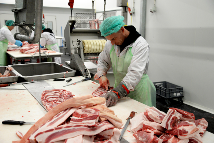 geconcentreerde slager, Brandt & Levie foto: Merel Kamp