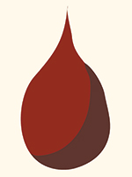 bloed, illustratie Merel Kamp voor bij Rutger Lemm