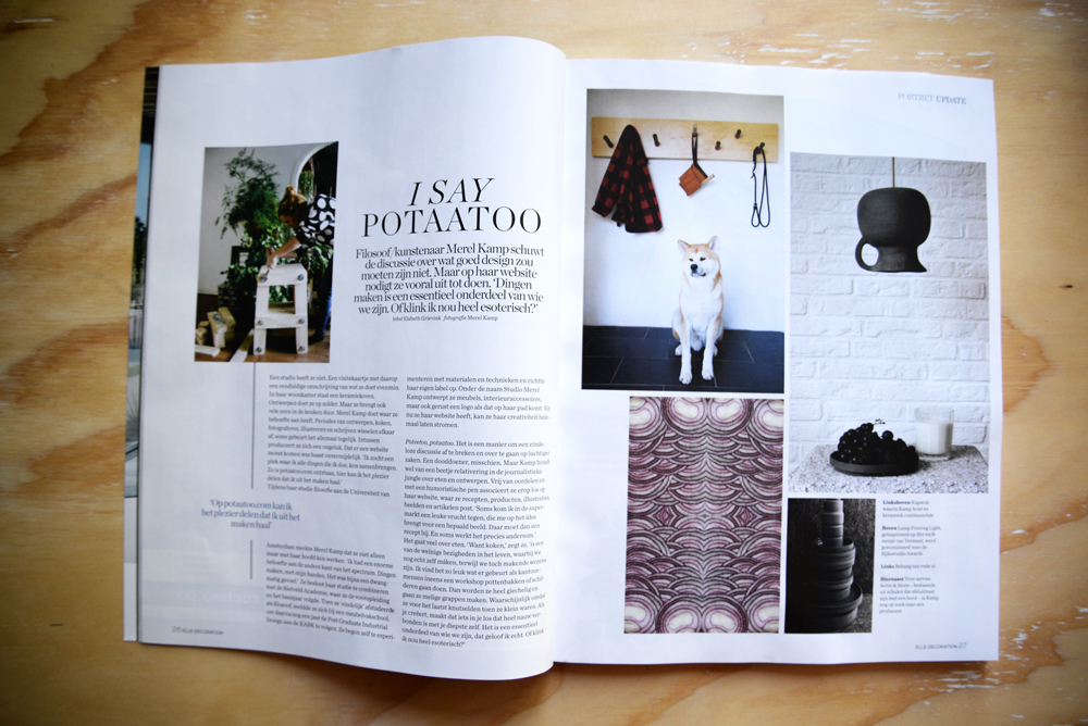 potaatoo in Elle Decoration juni/juli 2015