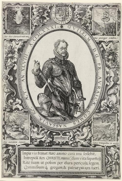 Portret van Willem van Oranje, gravure, Hendrick Goltzius, 1581, afkomstig van Rijksstudio