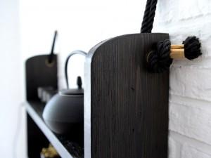 detail van zwarte kast studio merel kamp