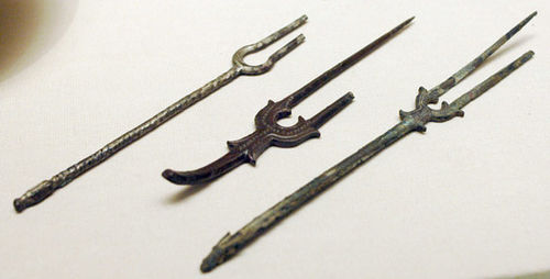 Tweetandige vorken, 8e-9e eeuw, Perzië