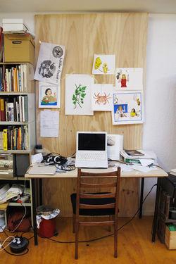 het atelier van Elise van Iterson in Amsterdam, foto: Merel Kamp