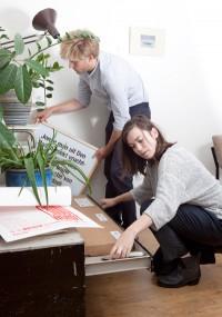 Studio Hudson Joost en Rosan in hun atelier, foto: Jorinde Beijerling