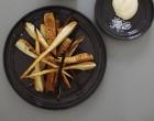 Pastinaken uit de oven met Maldon zeezout en mayo
