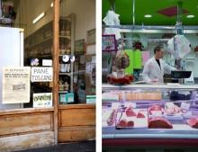 Florence, Firenze, slager en pane toscano Foto's: Merel Kamp
