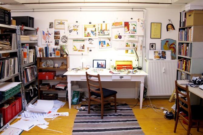 Het atelier van Elise van Iterson in Amsterdam: foto: Merel Kamp