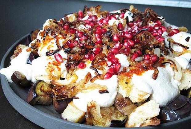 Libanese Fatet Betenjan vegetarisch Merel Kamp potaatoo
